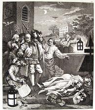 W. HOGARTH/riepenhausen: cruauté envers en perfection 1751 cruauté à la perfection