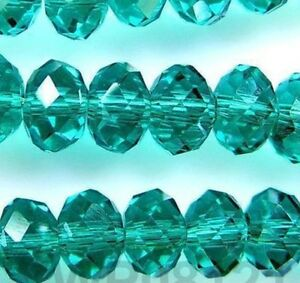 70pcs Green Crystal Faceted Gemstone Loose Beads 8mm