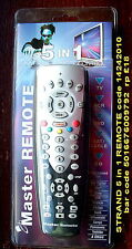 STRAND MASTER 5 in 1 REMOTE code 14242010  NEW SEALED BLISTER PACK . TV DVD CD