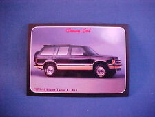 1992 Chevy S10 BLAZER Tahoe LT 4x4 collector card from 20 yr old set--new 92