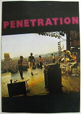 PENETRATION In Concert 1979 UK ORG PUNK Concert PROGRAM Pauline Murray Minty!