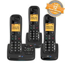 BT XD56 Trio Cordless Phones Answer Machine with Nuisance Call Blocker in Black