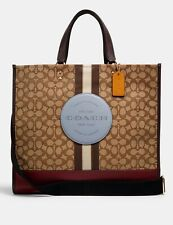 🎁 Coach Dempsey Tote 40 Signature Jacquard Logo Patch X Large Travel Bag $450