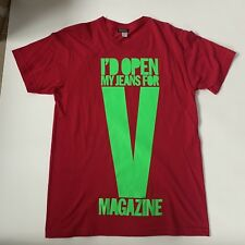 House Of Holland V Magazine Shirt Medium RARE Fashion Groupie Limited Edition