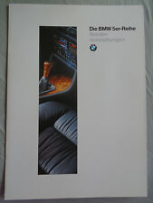 BMW 5 Series Special Equipment brochure 1995 Ed 1 German text