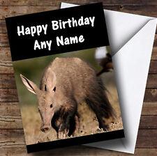 Aardvark Personalised Birthday Greetings Card