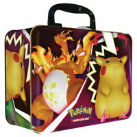 Pokemon Collectors Storage Chest Tin with notepad and sticker sheets