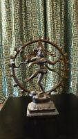 Bronzeskulptur, indische Göttin Kali, aus den 80er Jahren, sehr guter Zustand, H