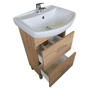 Badmöbel Waschbecken Unterschrank Badset 2 Schubladen Badzimmermöbel Waschtisch