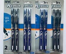 R-2 Roller Ball Pen, 0.7 mm Blue Ink 4 pack (8 Pens)