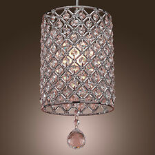HOT Mini Clear Round Chandelier Ceiling Light Pendant Lamp Fixture Lighting Home