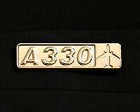 Pin Airbus A330 rectangle metal silver pin