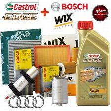 Kit tagliando olio CASTROL EDGE 5W40 5LT + 4 FILTRI AUDI A3 (8L1) 1.9 TDI