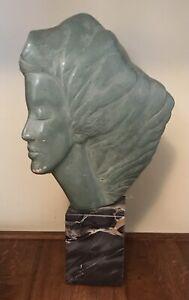 PEGGY MACH Woman w/ Flowing Hair SCULPTURE VINTAGE Alva Museum Reproductions