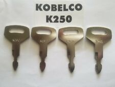 (4) Kobelco, Kawasaki, MDI-Yutani, New Holland, Case Ignition Start Starter Keys