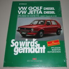 Reparaturanleitung VW Golf I Typ 17 / Jetta Diesel + Caddy Typ 14D ab 11/82 NEU!