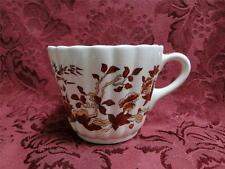 Spode Indian Tree Orange Rust, Floral, Red Trim: Cup (s), Saucer Not Included