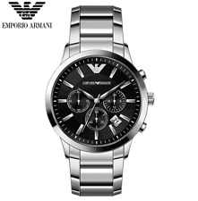 Original Emporio Armani AR2434 Men's Black Chronograph Watch 100% authentic