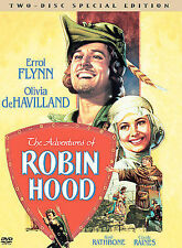 ADVENTURES OF ROBIN HOOD, Errol Flynn, medieval swordplay  2-Disc spec boxed set