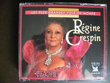 """3CD REGINE CRESPIN """"Les plus grandes voix du monde"""" Sélection du Reader's digest"""