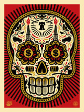 """Shepard Fairey Obey Giant """"Power and Glory Red"""" Yerena Signed numbered print art"""