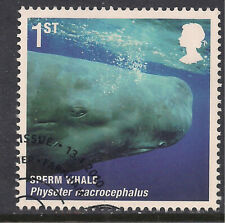 New listing Gb 2010 Qe2 1st Mammals Sperm Whale Sg 3058 ex Fdc ( B804 )