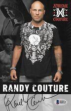 Randy Couture Signed 5.5x8.5 Photo UFC Xtreme Promo Card BAS COA Autograph 28 49