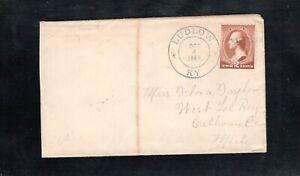 1884 Fancy Cancel Ludlow, KY. DPO Oct. 4th, Sc#210 to West LeRoy, Mich.