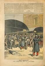 Bastion Militaire Classe Recrue Soldats Caserne France 1891 ILLUSTRATION