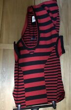 Y 3 Red striped hooded T-shirt, XS