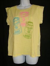 Andy Warhol by Pepe Jeans London Size S Yellow Campbell Soup Tee