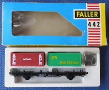 Faller Ams 442 Vagoni con Container Scatola Originale Raro