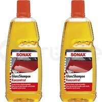 2x SONAX 1L GlanzShampoo Konzentrat Reinigung Lackschonend Schmutzlöser Löser