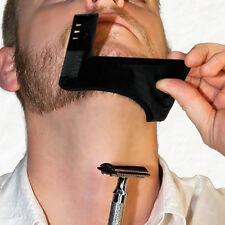 Gentlemen Style Beard Trim Template Men Modelling Shaping Hairbrush Comb