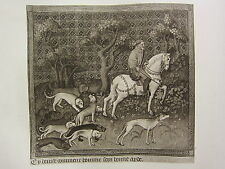 ANTIQUE HUNTING PRINT ~ THE HUNTSMAN WITH HIS HOUNDS
