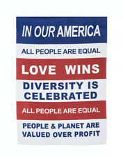 Our AMERICA USA Evergreen GARDEN YARD FLAG New Love Wins 29x43