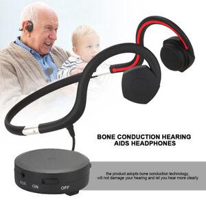 Binaural Rechargeable Bone Conduction Hearing Aids Noise Reduction Sound Amplifi