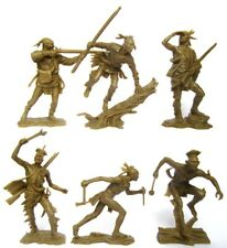 Indians set #3 collectible plastic Toy soldier Publius 54mm 1/32