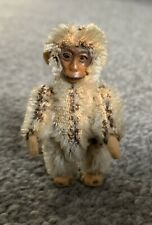 Antique Miniature Schuco Tiny Jtd 2.5� Once White Mohair Monkey Bit Worn Intact