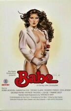 Babe Classic Adult Movie Poster 12 x 18 1981 Oliva Designed Art Work
