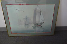 Richard E. Williams Ships Painting Signed Print