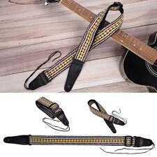 Guitar Strap Embroidery National Pattern For Electric Acoustic Bass Adjustable w