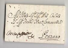 1769 STATO CHIESA lettera ROMA-PONZANO via CIVITA C-timbro SECCO PROCACCIA-g311