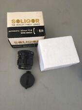 SOLIGOR CAMERA LENS -- 1:2.8 -- F= 35 MM -- Made in Japan