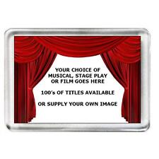 5 x Musical, Stage Play or Film Fridge Magnets. 100's of titles to choose from.
