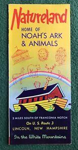 1970s NATURELAND Noah's Ark & Animals Lincoln, New Hampshire NH brochure ad