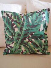 Kissen Kuschelkissen Sofakissen grün Blätter Jungle Dekokissen Dschungel 45x45cm
