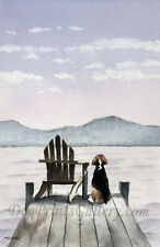 """Beagle on the Dock"" Watercolor Beagle Art Print by Artist Dj Rogers"