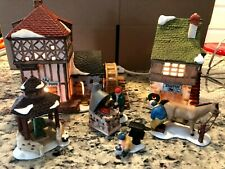 Dept 56 Dickens' Village Smith Shop & By The Pond House plus 4 Additional Items