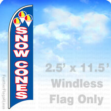 Snow Cones - Windless Swooper Feather Flag Banner Sign 2.5x11.5 - bb
